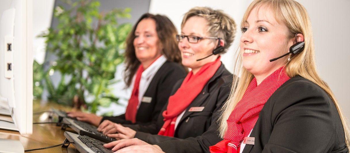Beraterinnen im KundernServiceCenter